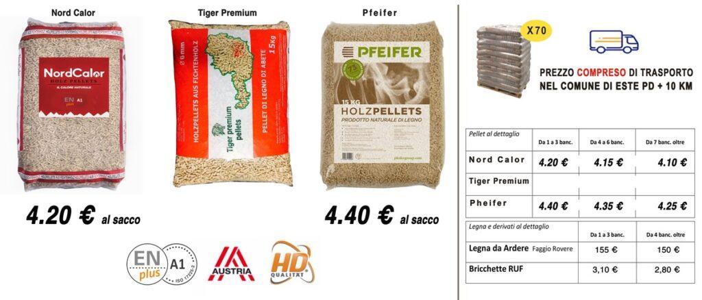 Prezzi pellet prestagionale 2020 + idea service